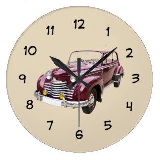 Man Cave Antique Car Large Clock