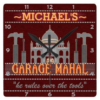Man Cave Funny Garage Mahal Tools   Custom Name V2 Clocks