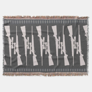 Man Cave Gun Rug Throw Blanket