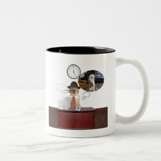Man Cave Humor Two-Tone Coffee Mug