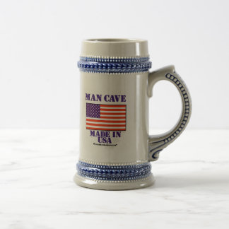 Man Cave Made in USA 18 Oz Beer Stein