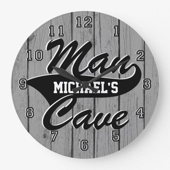 Man Cave Personalize Clocks
