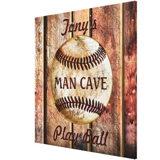 Man Cave Personalized Baseball Wall Art Your Text