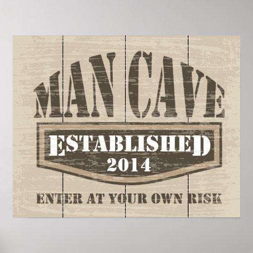 Man Cave Poster - Add Established Date