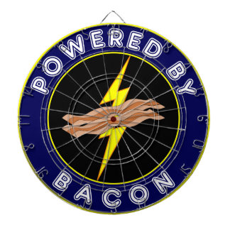 Man Cave Powered By Bacon Dart Board