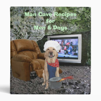 Man Cave Recipes Binder