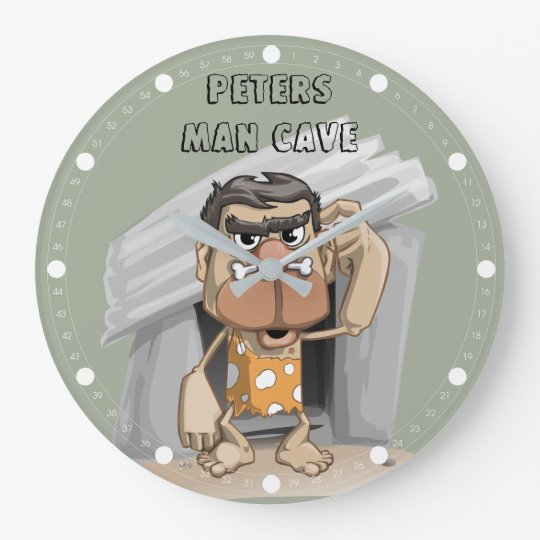 Man Cave Round (Large) Wall Clock