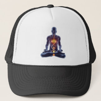 man chakras trucker hat