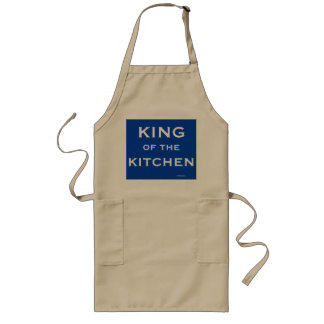 Man Chef Cook Funny Joke Name King of Kitchen Long Apron