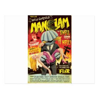 Man Clam Postcard