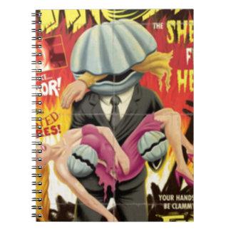 Man Clam Spiral Notebooks