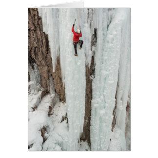 Man climbing ice, Colorado Card