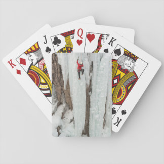 Man climbing ice, Colorado Playing Cards