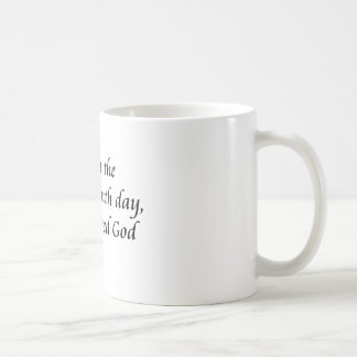 Man created God Coffee Mug