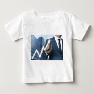 Man draws stock price touchscreen concept baby T-Shirt