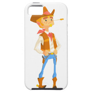 Man Dressed As Cowboy With A Straw In His Mouth Case For The iPhone 5