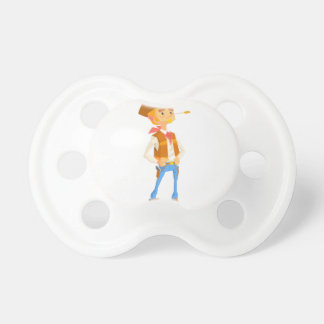 Man Dressed As Cowboy With A Straw In His Mouth Pacifier