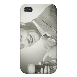 Man Drinking iPhone 4 Cover