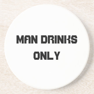 Man drinks only coaster