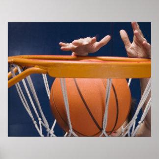 Man dunking basketball poster