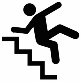 Man Falling Down the Stairs Acrylic Cut Outs