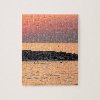 Man fishing at sunset jigsaw puzzle