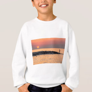 Man fishing at sunset sweatshirt