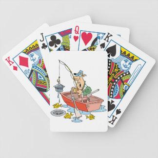 Man Fishing Playing Cards