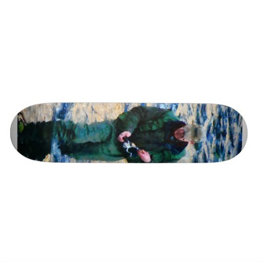 Man Fishing Skate Deck