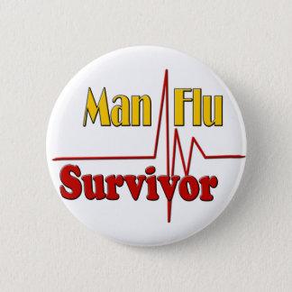 Man Flu Survivor Theme 2 Inch Round Button