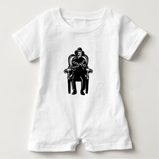 Man Gagged Chained to Grand Arm Chair Woodcut Baby Romper