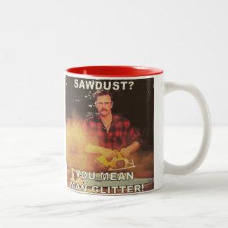 Man Glitter Two-Tone Coffee Mug