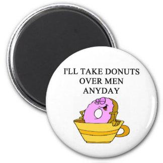man hating woman joke 2 inch round magnet