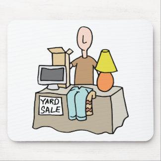Man having a yard sale mouse pad