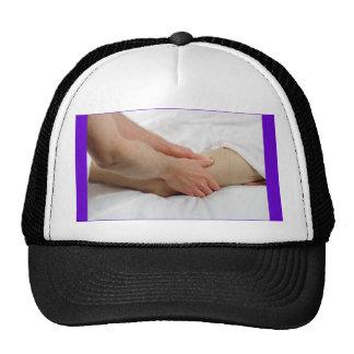 Man Having Leg Massage Trucker Hats