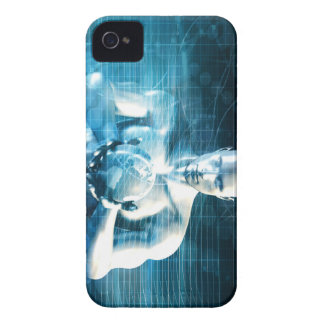 Man Holding Globe with Technology Industry Case-Mate iPhone 4 Case