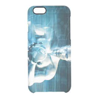 Man Holding Globe with Technology Industry Clear iPhone 6/6S Case
