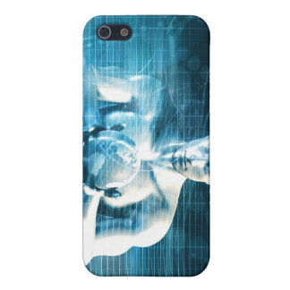 Man Holding Globe with Technology Industry iPhone 5/5S Case