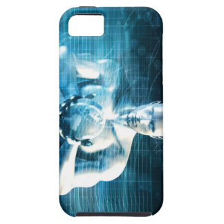 Man Holding Globe with Technology Industry iPhone 5 Cover