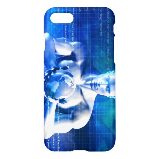 Man Holding Globe with Technology Industry iPhone 7 Case