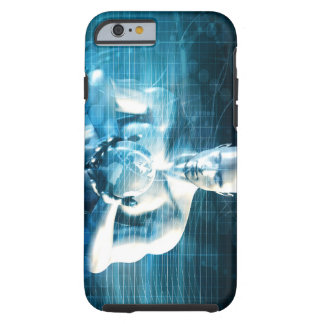 Man Holding Globe with Technology Industry Tough iPhone 6 Case