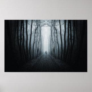 Man In A Dark Fantasy Forest Poster
