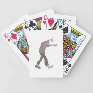 Man In A Suit Creepy Zombie With Rotting Flesh Out Bicycle Playing Cards