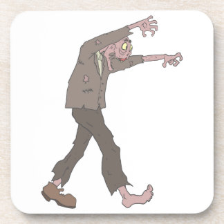 Man In A Suit Creepy Zombie With Rotting Flesh Out Coaster