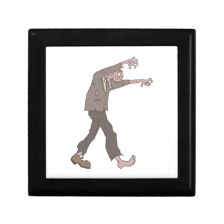Man In A Suit Creepy Zombie With Rotting Flesh Out Gift Box