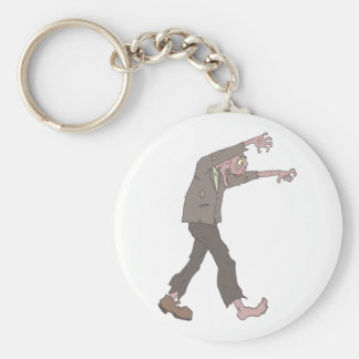 Man In A Suit Creepy Zombie With Rotting Flesh Out Keychain