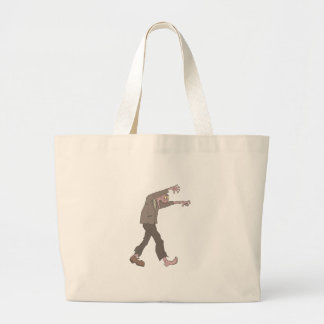 Man In A Suit Creepy Zombie With Rotting Flesh Out Large Tote Bag