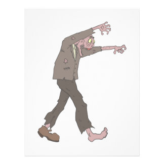 Man In A Suit Creepy Zombie With Rotting Flesh Out Letterhead