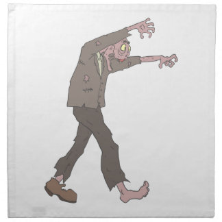 Man In A Suit Creepy Zombie With Rotting Flesh Out Napkin