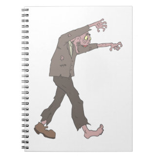Man In A Suit Creepy Zombie With Rotting Flesh Out Notebook